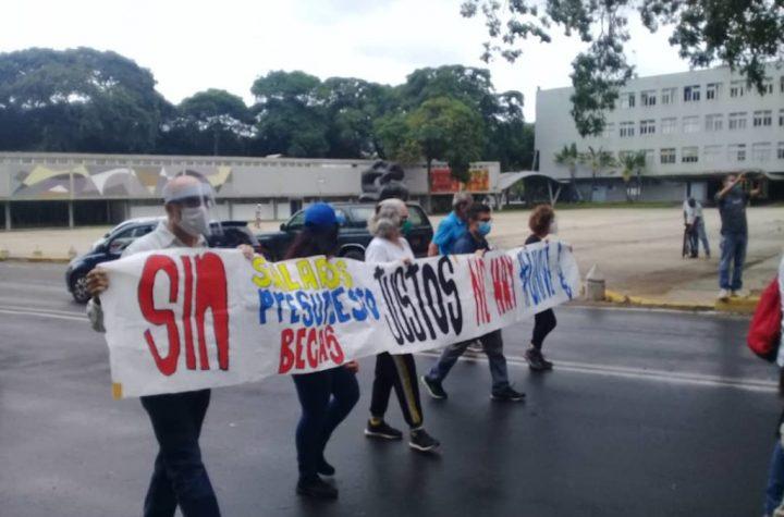 Por salarios justos: Caracas vuelve a ser escenario de protestas gremiales - noviembre 18, 2020 7:38 pm - NOTIGUARO - Salud