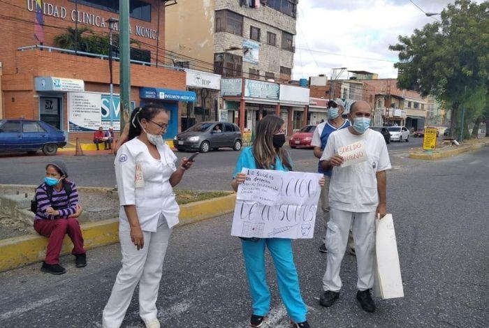 ¡Hospitales en Crisis! Personal de salud del Pastor Oropeza protestó por las pésimas condiciones de trabajo - febrero 17, 2021 9:55 pm - NOTIGUARO - Locales