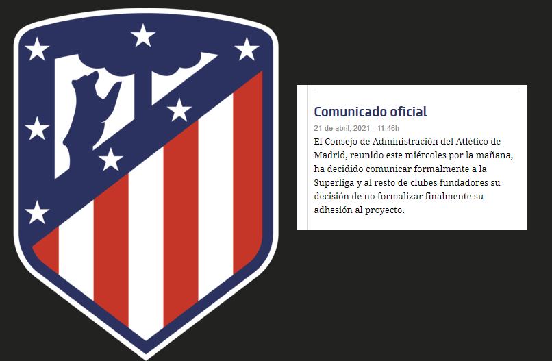 """El Atlético se marcha de la Superliga: """"Ya no se dan las circunstancias para seguir adelante"""" - abril 21, 2021 10:29 am - NOTIGUARO - Deporte"""