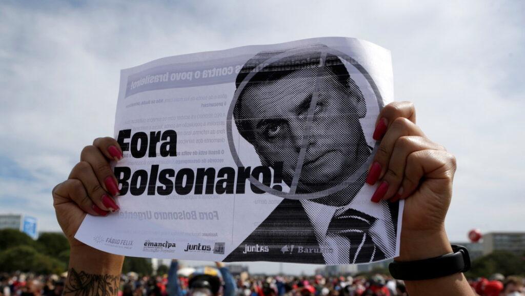 En Brasil: Miles de personas piden la destitución de Bolsonaro por el manejo de la pandemia(+videos) - mayo 29, 2021 9:00 pm - NOTIGUARO - Internacionales