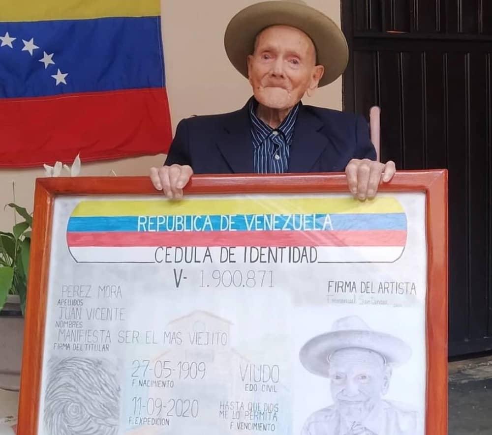 Juan Vicente Pérez Mora, el hombre más longevo de Venezuela, cumplió 112 años - mayo 28, 2021 7:31 pm - NOTIGUARO - Nacionales