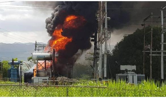 En Carabobo: Incendio registrado en la Sub-estación Alejo Zuloaga fue controlado a tiempo - mayo 30, 2021 7:00 am - NOTIGUARO - Nacionales