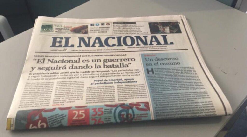 CNP alerta a la comunidad internacional ante embargo contra El Nacional - mayo 14, 2021 11:29 pm - NOTIGUARO - Nacionales