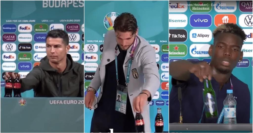 La UEFA pide a los jugadores de la Eurocopa que dejen de retirar las botellas de los patrocinadores - junio 19, 2021 12:20 am - NOTIGUARO - Deporte