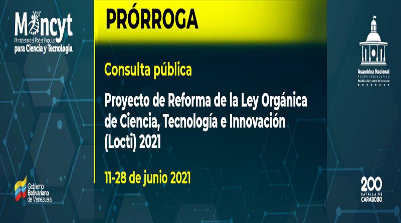 Hasta el 28 de junio: Extiende plazo para la consulta pública sobre la reforma a la Locti - junio 21, 2021 10:08 am - NOTIGUARO - Nacionales