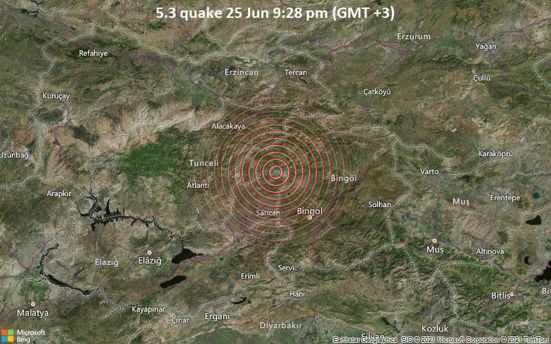 Temblor de magnitud 5.2 causa pánico en Turquía - junio 25, 2021 10:53 pm - NOTIGUARO - Internacionales