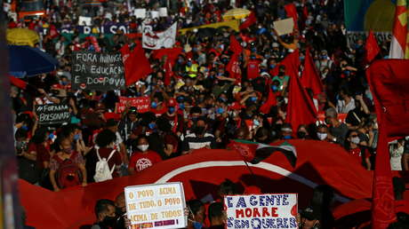 En Brasil: Miles de ciudadanos salieron a las calles para exigir destitución de Bolsonaro - julio 25, 2021 10:35 am - NOTIGUARO - Internacionales