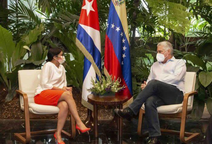 En Cuba: Delcy Rodríguez se reunió con el presidente Díaz-Canel - julio 18, 2021 9:30 am - NOTIGUARO - Cuba