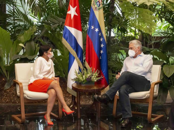 En Cuba: Delcy Rodríguez se reunió con el presidente Díaz-Canel - julio 18, 2021 9:30 am - NOTIGUARO - Internacionales