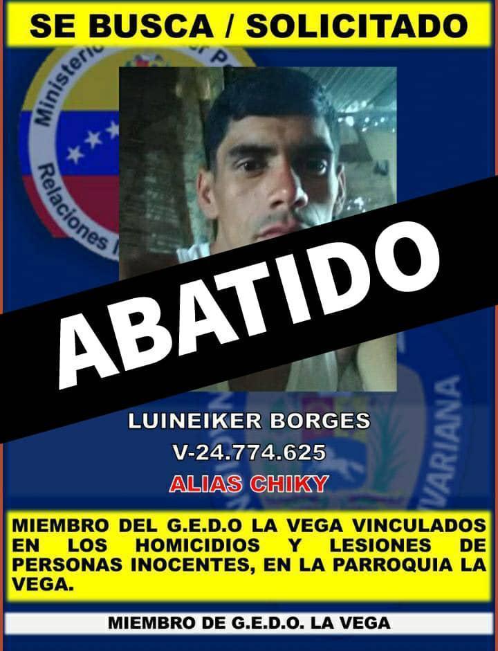 """Caracas: Fue abatido alias """"Chiky"""" durante enfrentamiento en la Cota 905 - julio 11, 2021 10:00 am - NOTIGUARO - Nacionales"""