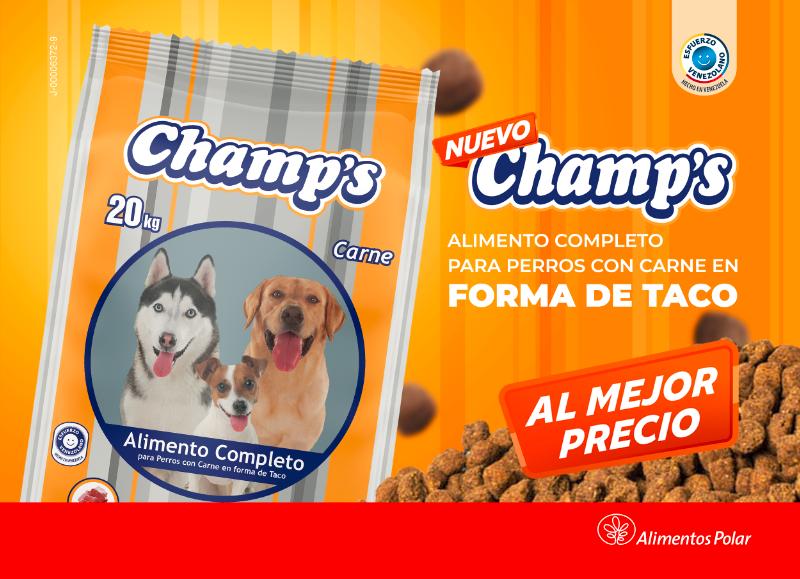 "Alimentos Polar relanza ""Champ's"", un producto que se une al portafolio para mascotas - julio 23, 2021 4:43 am - NOTIGUARO - Entretenimiento"