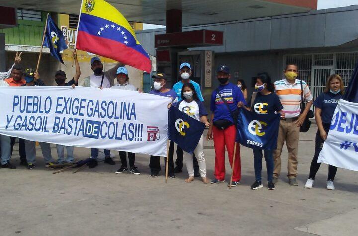 Organizaciones políticas protestaron en Carora por falta de combustible - agosto 12, 2021 1:35 am - NOTIGUARO - Municipio Torres