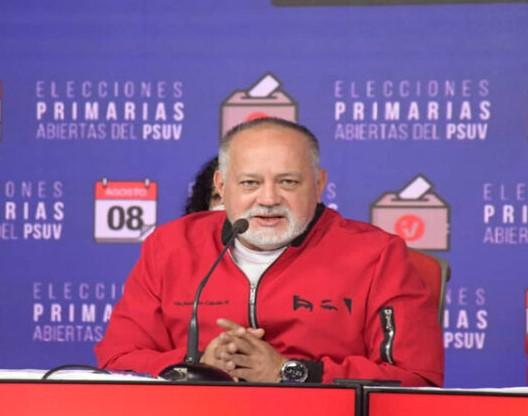 """Cabello: PSUV """"revisará 7 candidaturas"""" por no cumplir con parámetros de la primarias - agosto 10, 2021 12:15 pm - NOTIGUARO - Nacionales"""