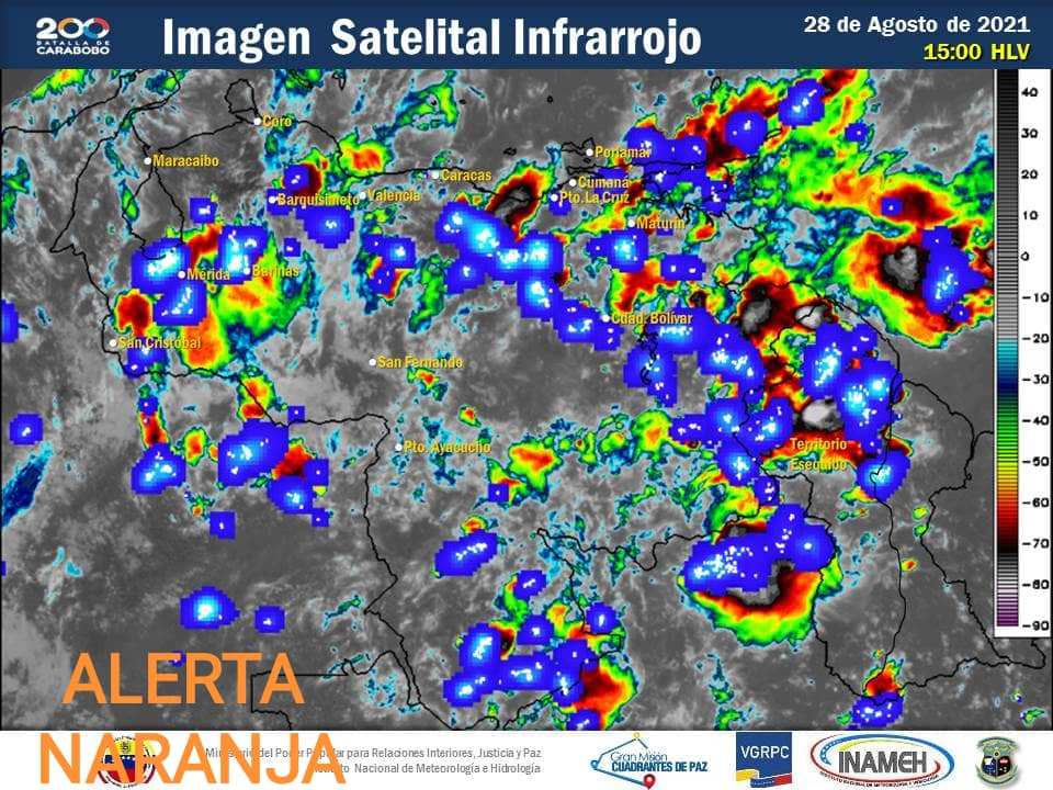 """Inameh emite """"Alerta Roja"""" en Guárico, Bolívar, Zulia y Mérida por niveles elevados de los ríos - agosto 29, 2021 12:58 am - NOTIGUARO - Nacionales"""