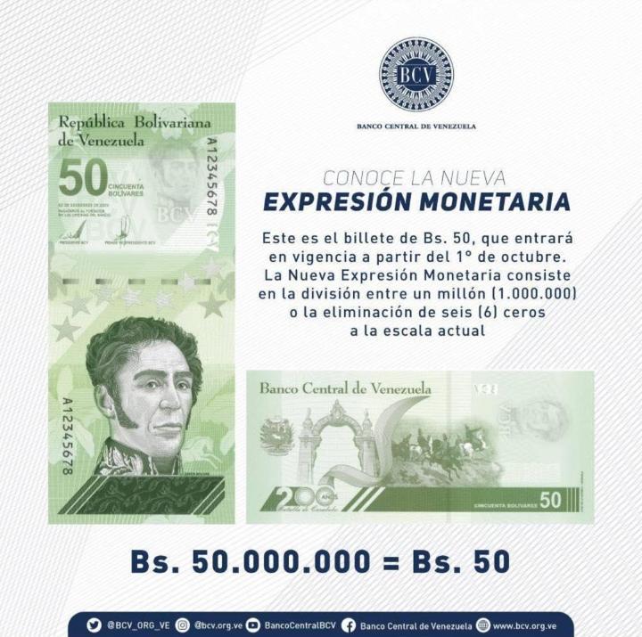 En Octubre entre en vigencia nuevo cono monetario - agosto 5, 2021 11:13 am - NOTIGUARO - Nacionales