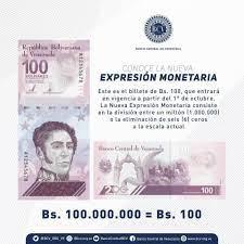 En Gaceta Oficial: BCV establece las normas que regirán la nueva Expresión Monetaria - agosto 20, 2021 2:34 am - NOTIGUARO - Economia
