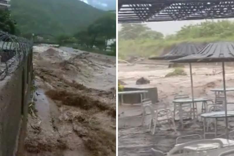La Guaira: Fuertes lluvias provocan inundaciones y desbordamiento del Río Camurí Grande (+videos) - agosto 29, 2021 12:00 am - NOTIGUARO - Nacionales