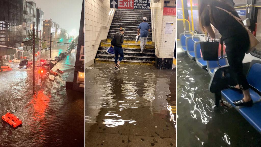 """Estado de Emergencia en Nueva York: Inundaciones catastróficas paralizan la ciudad mientras """"Ida"""" arrasa con todo a su paso (+videos) - septiembre 2, 2021 4:18 pm - NOTIGUARO - Internacionales"""