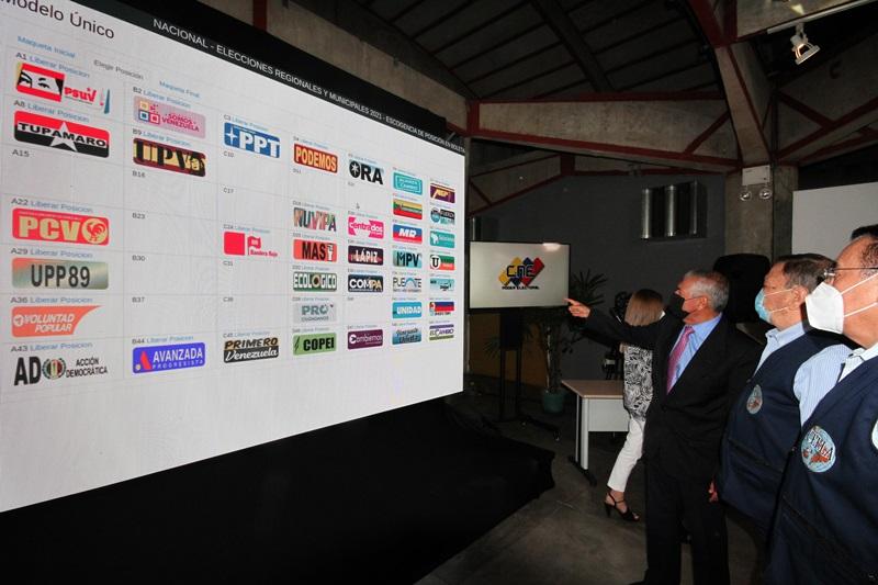 Partidos habilitados para comicios del 21N escogen posición en el tarjetón electoral - septiembre 10, 2021 8:33 am - NOTIGUARO - Nacionales