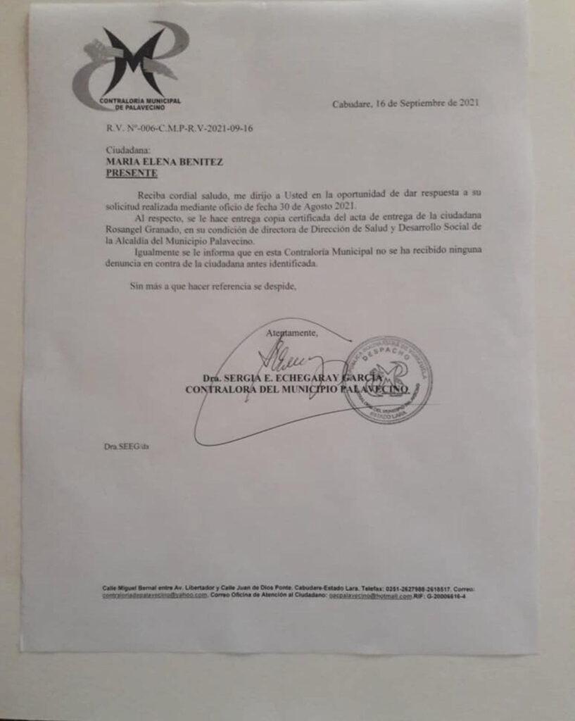 """En Lara: Abg. Rosangel Granado demandó a dos periodistas por el delito de """"Difamación agravada continuada"""" - octubre 5, 2021 4:00 pm - NOTIGUARO - Locales"""