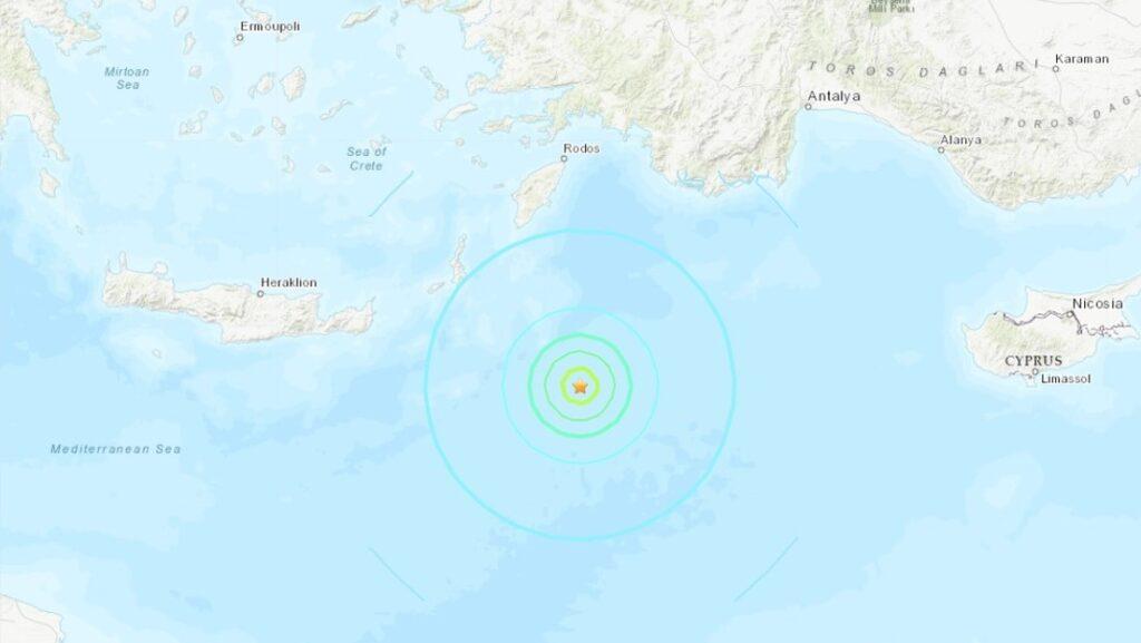 Sismo de magnitud 6,0 sacude varias islas griegas en el Mediterráneo - octubre 19, 2021 8:00 am - NOTIGUARO - Internacionales